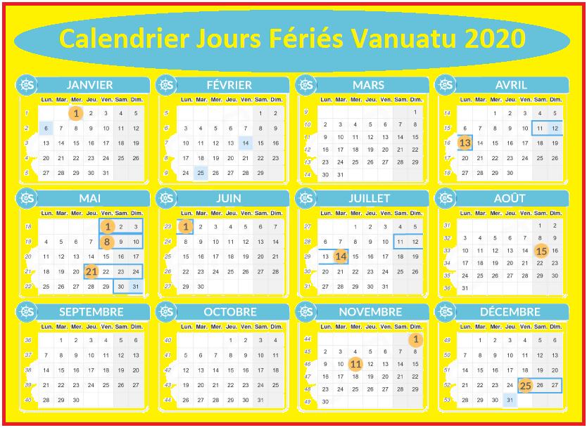 Les Jours Fériés Du Vanuatu 2020