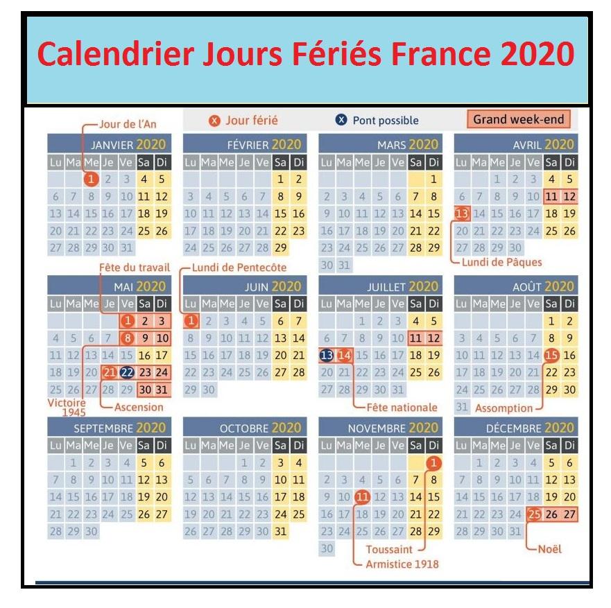 Jours Feries France 2020 Service Public