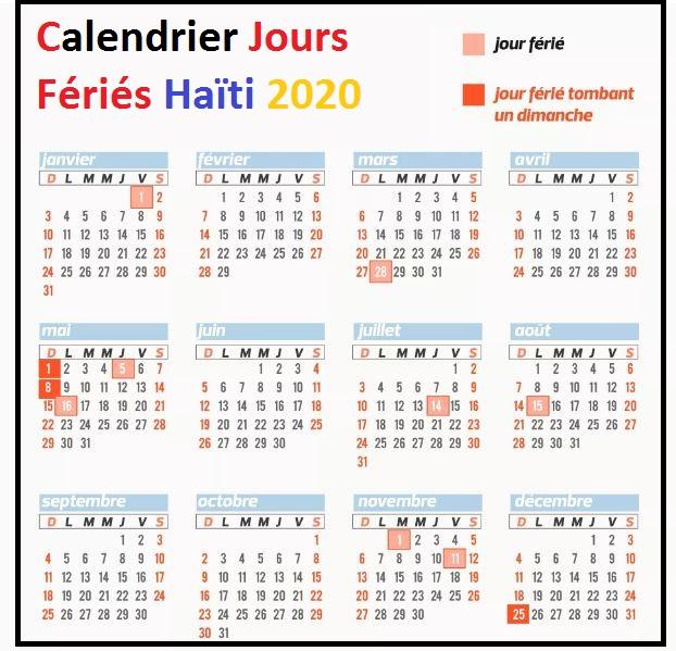 Les Jours Fériés De Haïti 2020