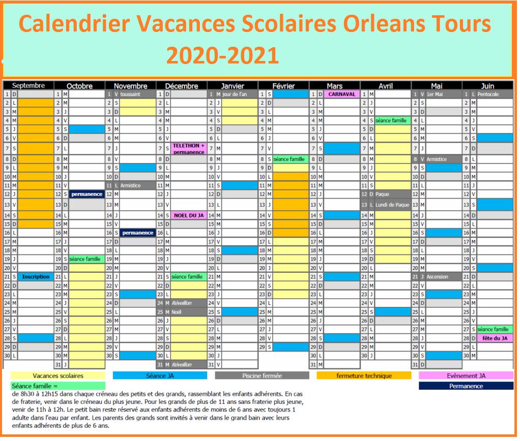 Calendrier Vacances Scolaires 2020 Zone Orleans Tours