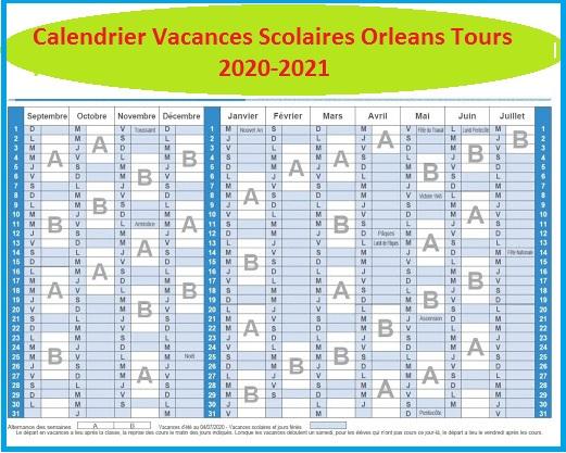 Vacances Scolaires 2019 et 2020 Orleans Tours