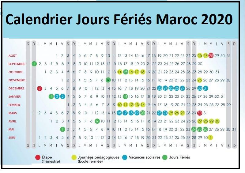 jours fériés maroc 2020 secteur privé