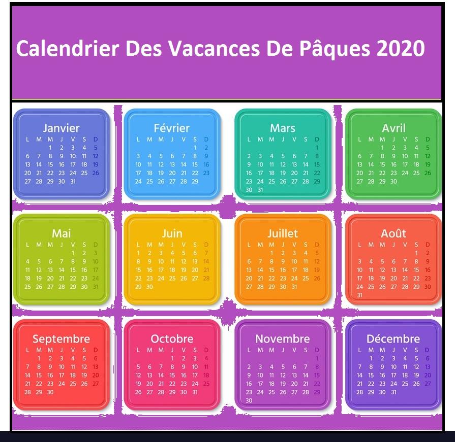 Calendrier lundi de paques 2020