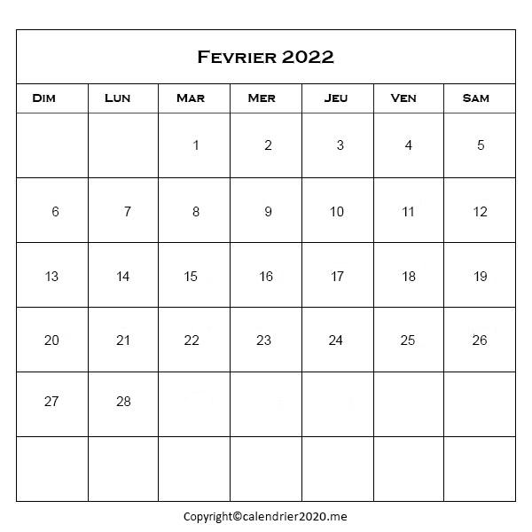 Fevrier 2022 Jours Fériés